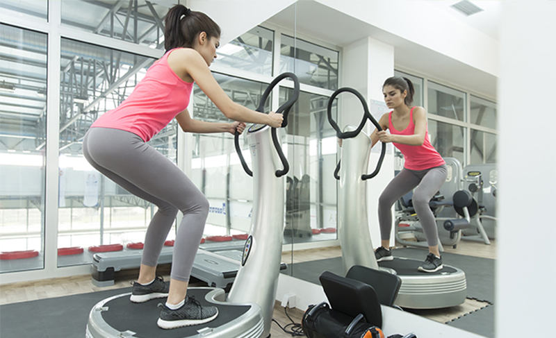 Cellulite workout on a power plate